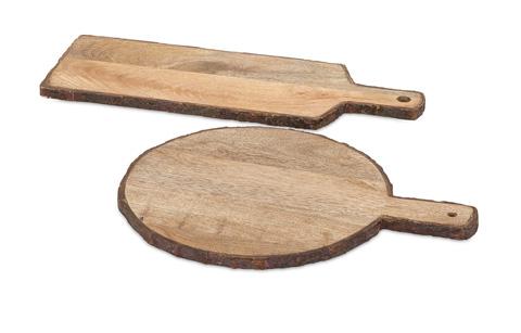 IMAX Worldwide Home - Nakato Wood Bark Cheese Trays - Set of 2 - 71814-2