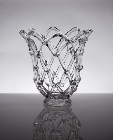 IMAX Worldwide Home - Glass Web Sculpture with Open Top - 73004