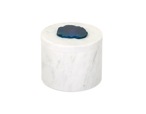 IMAX Worldwide Home - Verena Marble Box with Agate Stone - 82502