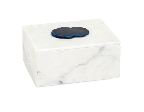 Image of Piper Marble Box with Agate