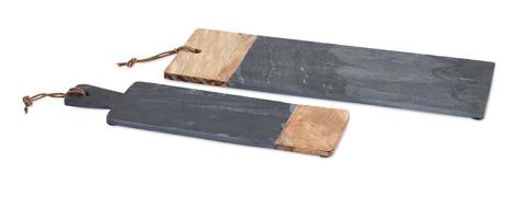 IMAX Worldwide Home - Dahlia Slate and Wood Cheese Board - 82520