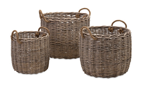 IMAX Worldwide Home - Mellie Willow Baskets - Set of 3 - 86515-3