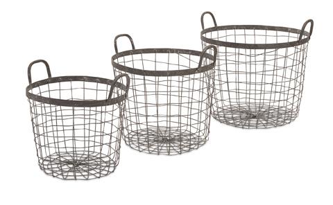IMAX Worldwide Home - Metro Wire Baskets - Set of 3 - 86519-3