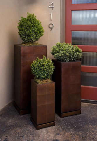 IMAX Worldwide Home - CKI Tall 5th Avenue Planters - Set of 3 - 87067-3