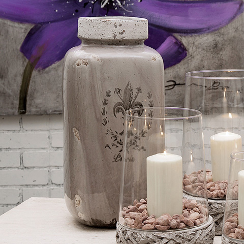 IMAX Worldwide Home - Brocade Large Vase - 40291