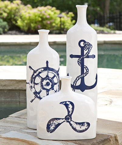 IMAX Worldwide Home - Haines Nautical Propellar Vase - 53090