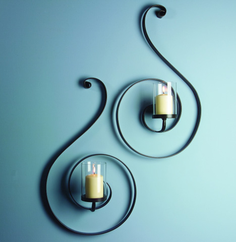 IMAX Worldwide Home - Forte Sconces - Set of 2 - 56045-2