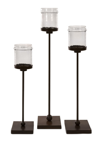 IMAX Worldwide Home - Flamenco Floor Candleholders - Set of 3 - 6998-3
