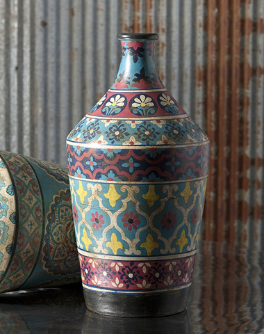 IMAX Worldwide Home - Kabir Small Hand-painted Vase - 73207