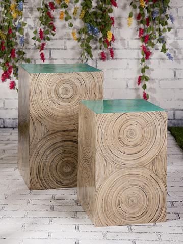 IMAX Worldwide Home - Yanna Bamboo Tables - Set of 2 - 81318-2