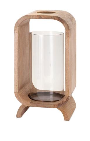 IMAX Worldwide Home - Quinn Wood Candleholder - 81684