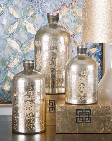 IMAX Worldwide Home - Veneta Mercury Glass Jugs - Set of 3 - 84800-3
