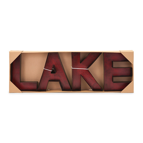IMAX Worldwide Home - Lake Metal Wall Letters - 88438
