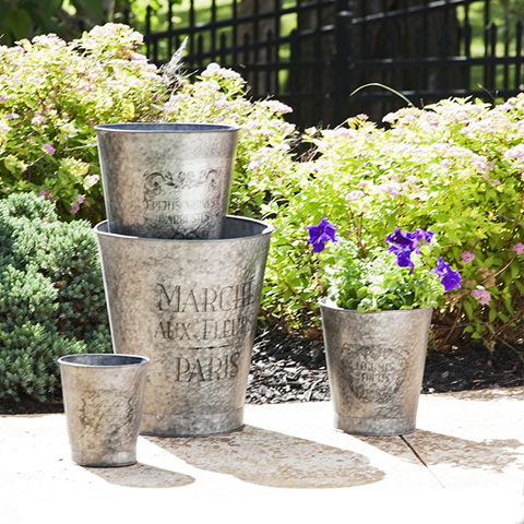 IMAX Worldwide Home - French Garden Pots - Set of 4 - 89138-4