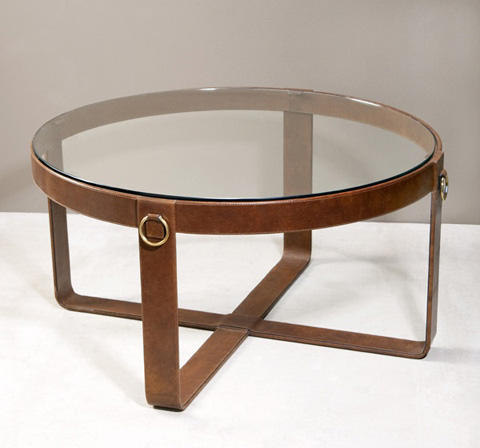 Interlude Home - Jameson Leather Cocktail Table - 115040