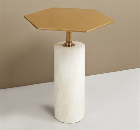 Interlude Home - Beck Stone Side Table - 129079