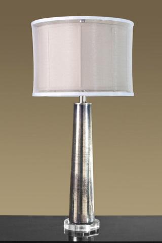 Interlude Home - Silver Rain Glass Lamp - 545008