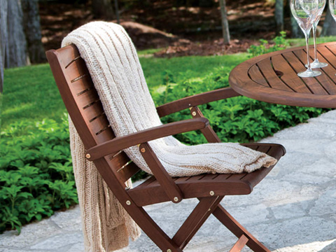 Jensen Leisure Furniture - Topaz Folding Chair with Armrests - 6238