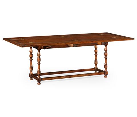 Jonathan Charles - Large Walnut Hunt Table - 492095