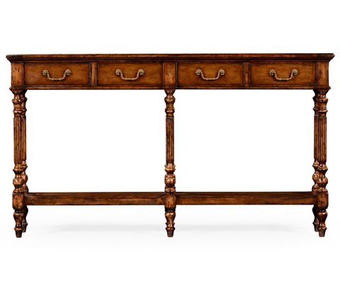 Image of Narrow Walnut Console Table