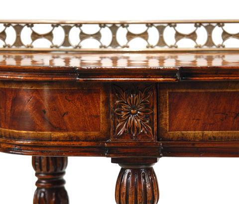 Jonathan Charles - Console Table with Brass Gallery - 492804