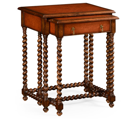 Jonathan Charles - Leather Top Nesting End Tables - 492027