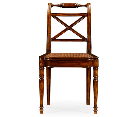 Image of Cross Back Cane Seat Side Chair