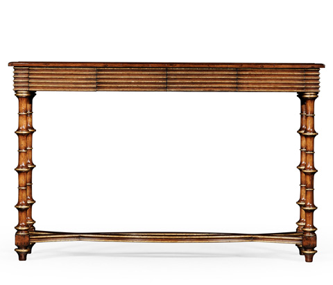 Jonathan Charles - Eglomise and Walnut Console - 492072