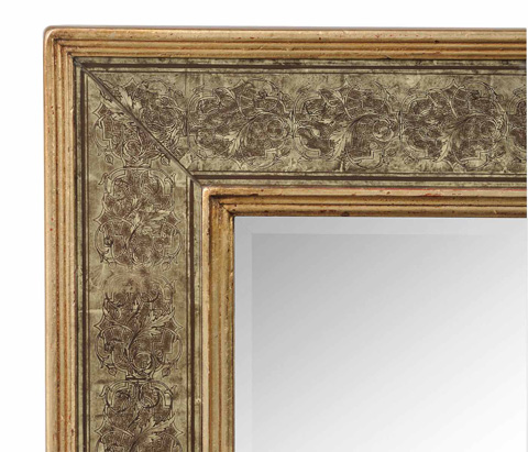 Jonathan Charles - Rectangular Mirror with Eglomise Gilt Borders - 492203
