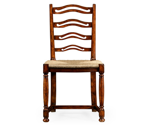 Jonathan Charles - Ladder Back Walnut Side Chair - 492328