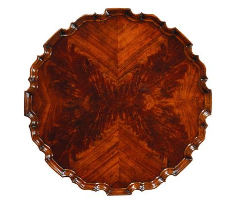 Jonathan Charles - Mahogany Piecrust Side Table - 492402