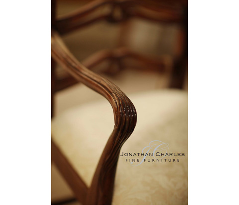 Jonathan Charles - Mahogany Pierced Back Dining Arm Chair - 492466