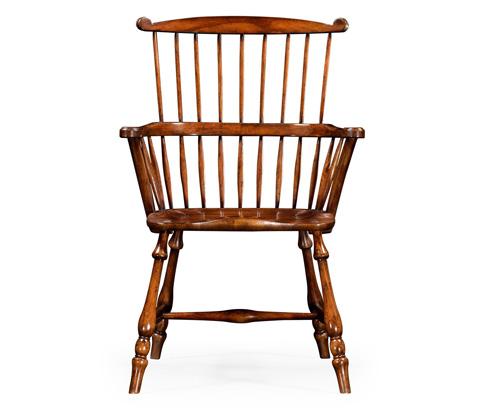Jonathan Charles - Windsor Arm Chair in Walnut - 492601