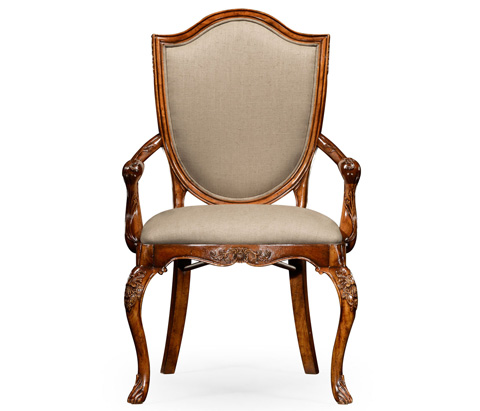 Jonathan Charles - Upholstered Shield Back Arm Chair - 492691