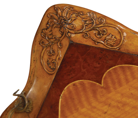 Jonathan Charles - Satinwood Carved Rectangular Tray - 492745