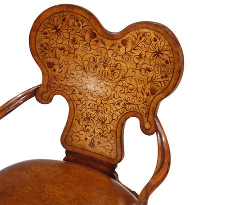 Jonathan Charles - Seaweed Marquetry Chair - 492802