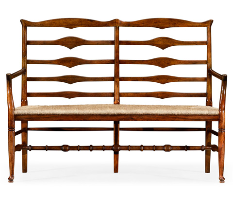 Jonathan Charles - Double Ladder Back Bench - 492803
