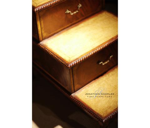 Jonathan Charles - Mahogany Bed Steps - 493001
