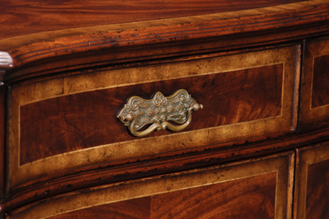 Jonathan Charles - Mahogany Double Serpentine Sideboard - 493134
