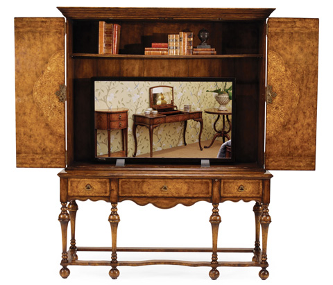 Jonathan Charles - Seaweed TV Cabinet with Open Base - 493149