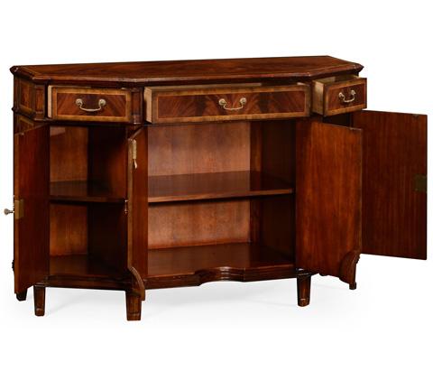 Jonathan Charles - Mahogany Starburst Side Cabinet - 493190