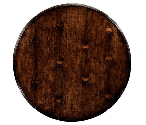 Jonathan Charles - Round Dark Oak Bar Table - 493358