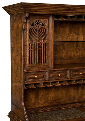 Jonathan Charles - TudorbethanDark Oak Dresser For Drinks Storage - 493364