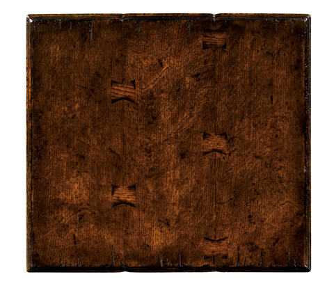 Jonathan Charles - Elizabethan Dark Oak Square Side Table - 493371