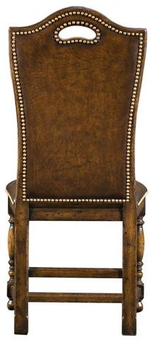 Jonathan Charles - Dark Oak High Back Chair - 493381