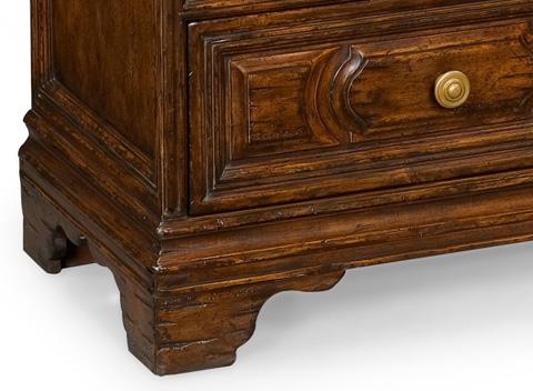 Jonathan Charles - Tudor Style Walnut Chest of Three Drawers - 493398