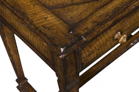 Jonathan Charles - Rectangular Figured Walnut Side Table - 493442