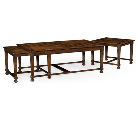 Jonathan Charles - Rustic Walnut Nesting Coffee Table - 493475