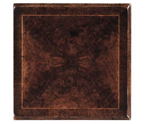 Jonathan Charles - Dark Crotch Walnut Square Lamp Table - 493492