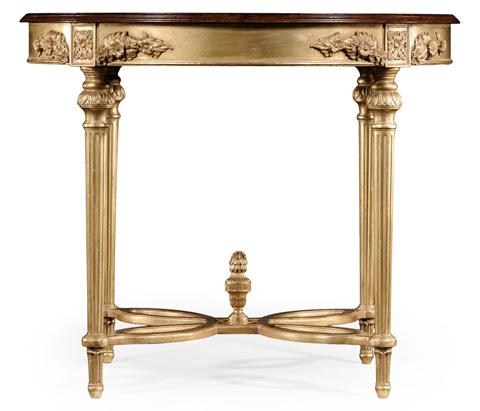 Jonathan Charles - Napoleon III Mahogany Centre Table - 493525